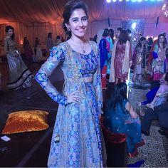 """Saira shehroz looks beautiful in a #zarashahjahan Lehnga choli. @Sairoz"""