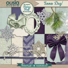 Quality DigiScrap Freebie  ~~~ Ousia Studio Snow Day
