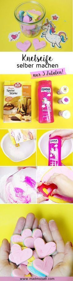 Make DIY Soap from 3 ingredients yourself: Cheap DIY Ges .- DIY Knetseife aus 3 Zutaten selber machen: Günstiges DIY Geschenk Make DIY Soap from 3 Ingredients Yourself – Simple and Cheap DIY Gift for DIY Cosmetic Lover. Couleur L Oreal, Belleza Diy, Diy Gifts Cheap, Diy Beauté, Easy Diy, Presents For Her, Holiday Break, Mom Day, Diy For Kids