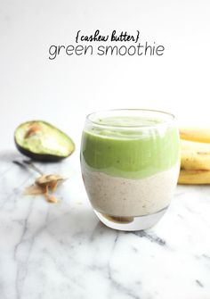 Cashew Butter Green Smoothie | A protein-packed LAYERED smoothie that's both fun and filling!