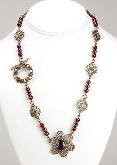 Jewelry Making Idea: Venetian Rhapsody Necklace (eebeads.com)