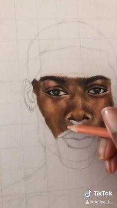 Pencil Art Drawings, Cool Art Drawings, Colorful Drawings, Art Drawings Sketches, Portrait Au Crayon, Colored Pencil Portrait, Color Pencil Art, Surealism Art, Gcse Art Sketchbook