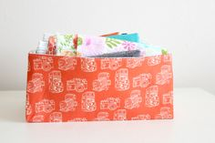 Fabric Basket with Cut Out Handles TUTORIAL
