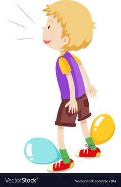 Boy playing balloons popping vector image on VectorStock Boys Playing, Single Image, Games For Kids, Adobe Illustrator, Vector Free, Disney Characters, Fictional Characters, Balloons, Pdf