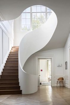 Boston House, Steven Harris Architects The MAN is part of architecture Drawing House Spaces - architecture Drawing House Spaces Interior Stairs, Home Interior Design, Interior And Exterior, Stairs Architecture, Interior Architecture, Organic Architecture, Boston House, Sweet Home, Staircase Design