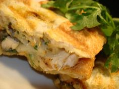 Southwestern Chicken Panini with cilantro pesto - Yummy & easy!