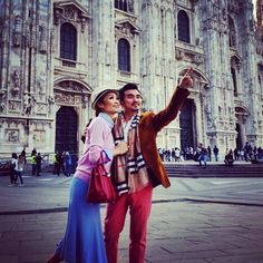 From Milan with Love    #CatinMilan #catgoestoMilan #beautifulday #beautifulview #hellomilan #Milano #goodmorning #gorgeous #awesome #happy #holiday #todayslook #totallyinlove #lovingit #coupleshot #instadaily #instalook #instalove #instafab #instapix #Padgram