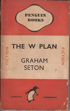 Graham Seton, The W Plan, 1936, London: Penguin Books. This was a time of mass publication especially for penguin books who went on to use cheap paper to make it cheaply produced and widely available to those who wanted a copy of their publishing. This was a highly modernist way of publishing and the cover(s) also gave a more modern feel. It shows the way in which technology has been used in a way to speed up the production of an object as well as making them aesthetically pleasing.