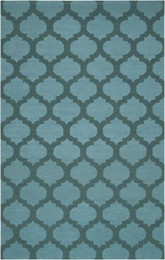 Frontier Rug in Sea Blue and Teal Green by Surya (FT-123) #laylagrayce #suryarugs