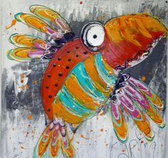 CarinArt   Kunstschilder Uden, kleurrijke en abstracte kunst   Dieren Watercolor, Painting, Pen And Wash, Watercolor Painting, Painting Art, Watercolour, Paintings, Painted Canvas, Watercolors