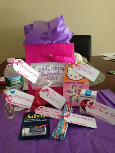 30th Birthday Gift For Her Dirty 30 Survival Kit Presents Friend
