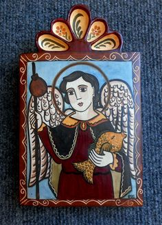 Religious Icons, Religious Art, Colonial Art, Communion Gifts, Spanish Art, Catholic Gifts, Arte Popular, Mexican Folk Art, Angel Art
