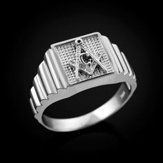 Women Men 18K Gold Filled White Topaz Ring Watchband Design Jewelry Happiness