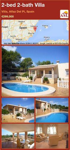 2-bed 2-bath Villa in Villa, Alfaz Del Pi, Spain ►€299,000 #PropertyForSaleInSpain
