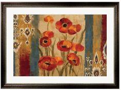 Sprout up new style with this chic Metaverse Art Ikat Floral Tapestry framed wall art. <ul> <li>Ornate frame PRODUCT DETAILS</li> <li>27.75''H x 37.75''W x 1.5''D</li> <li>Print size: 20''H x 30''W</li> <li>Polystyrene , paper, plastic</li> <li>Horizontal display</li> <li>Attached hanging bracket</li> <li>Wipe clean</li> <li>Manufac