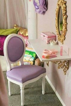 How to Decorate A Little Girl Bedroom for Cheap - toddler room ideas Big Girl Bedrooms, Little Girl Rooms, Bedroom Girls, Girls Princess Bedroom, Purple Princess Room, Little Girls Room Decorating Ideas Toddler, Toddler Princess Room, Girls Room Purple, 4 Year Old Girl Bedroom