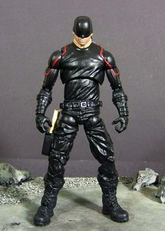 Netflixs Daredevil (Marvel Legends) Custom Action Figure by Stevid Recipe: Nick fury body, Electro arms, Cap boots, and Iron Fist head