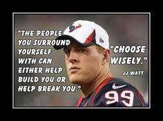 "Football Motivation JJ Watt Texans Photo Quote Poster Wall Art Print 5x7""- 11x14"" - People Can Build U Or Break U -Choose Wisely - Free Ship by ArleyArt on Etsy https://www.etsy.com/ca/listing/194965297/football-motivation-jj-watt-texans-photo"