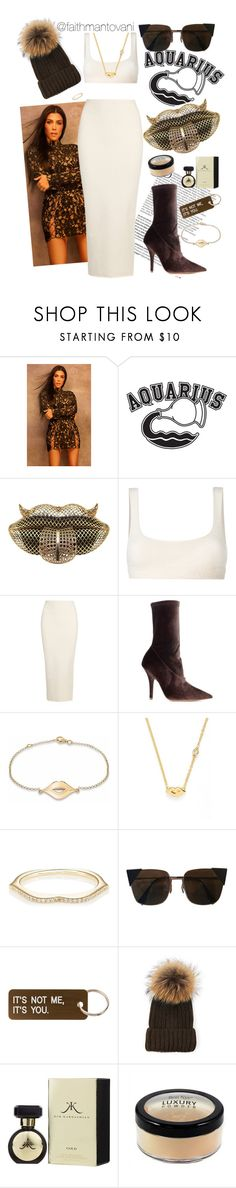"""Aquarius Vibez"" by faithmantovani ❤ liked on Polyvore featuring Balmain, Good American, Yeezy by Kanye West, True Rocks, Sydney Evan, Raphaele Canot, Fendi and Various Projects"