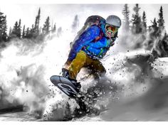 OZ rider Justin Ibarra plowing through the thick #colorado #pow pic by Greg Hansen aka @dirtycrabwonton #splitboarding #snowboarding #snowboard #splitboard