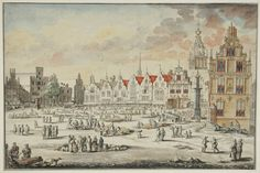 Nijmegen, the Netherlands.  19th century copy of Jan van Call's 1680 painting.(Museum het Valkhof) Van Lom ancestors lived in Nijmegen during the 1680's. http://www.gelderlandbinnenstebuiten.nl/thema.aspx?ID=85=handelsnederzetting