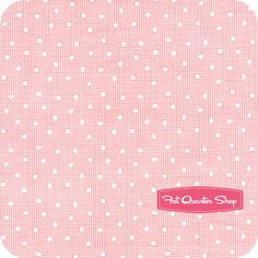 Nursery Fabric: Fatquartershop.com - Pam Kitty Love by Pam Kitty Morning for Lakehouse Dry Goods - Pink Dots on Check SKU# LH11016-PINK $10.75