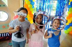 DIY photobooth props space rocketship alien astronaut birthday party