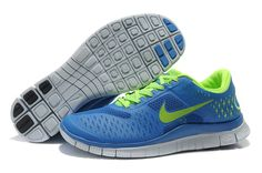 Discount Nike Free 4.0 V2 Mens Royalblue Yellow Running Shoes With High Quality