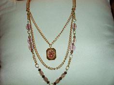 Handmade Beaded Necklace and Bracelet Set by MyCynthiasJewelry, $20.00