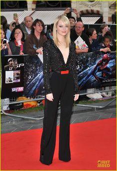 Emma Stone & Andrew Garfield: 'Spider-Man' in London!  Emma Stone in Elie Saab