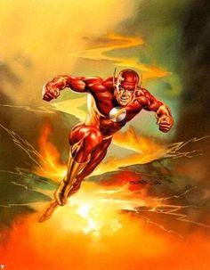 The Flash by Boris Vallejo #BorisVallejo #Flash #TheFlash #BarryAllen #TheFastestManAlive #JusticeLeague #JL #SpeedForce #CentralCity