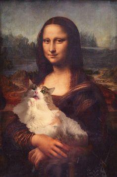 Cabello Animal Crossing, Mona Lisa Parody, Alien Drawings, Famous Artwork, Norwegian Forest Cat, Cat Aesthetic, Cat People, Cat Wallpaper, Cat Art