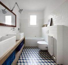 Revestimientos para baños vintage