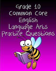 Get your 10th grade students ready for the English Language Arts section of the Common Core exam with this free set of  Common Core English Language Arts practice test questions.  #commoncore  #english