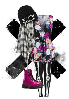 """""""Untitled #28"""" by leader-of-the-pack1226 ❤ liked on Polyvore featuring WithChic, MINKPINK, Dr. Martens and Killstar"""