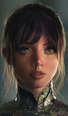 She kinda looks like she's got some of Ellen Page's facial features. Eyes, lips, and jaw shape