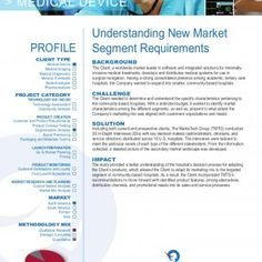 USA 502 Mace Blvd, Suite 15 Davis, CA 95618 United States Tele: (+1) 530-792-8400 BACKGROUND CHALLENGE IMPACT The Client, a worldwide market leader in softw. http://slidehot.com/resources/case-study-understanding-new-market-segment-requirements.9106/
