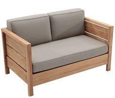 Sofá de madera de teca y poliéster QUEBEC - Leroy Merlin