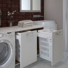 Cesto ropa Blanco 45 - Equal Tutorial and Ideas Modern Laundry Rooms, Laundry Room Layouts, Laundry Room Remodel, Laundry Room Bathroom, Laundry Room Organization, Laundry Room Inspiration, Rustic Home Interiors, Laundry Room Design, Small Room Bedroom