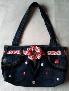 Upcycled Denim bag (picture only) - my creation