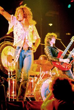 Led Zeppelin: Robert Plant and Jimmy Page, by Neil Zlozower. Cameltoe of the Gods!