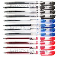 Dong-A My Gel Ink 0.5mm Roller ball Pen-Mixed Colors (Black4,Blue4,Red4) -12 pcs