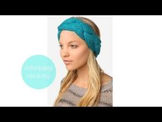 ▶ Anthro-Inspired Plaited Head Wrap - YouTube - can do with crochet - chain then do 5 rows of single crochet