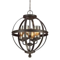 Shop for Sfera 4-light Autumn Bronze Mercury Glass Chandelier. Get free shipping at Overstock.com - Your Online Home Decor Outlet Store! Get 5% in rewards with Club O!