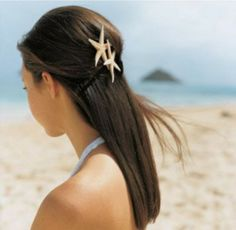 Beach Wedding Hairstyle for Straight Hair