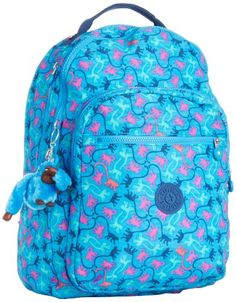 Kipling Women's Clas Seoul Backpack One Size Monkeymania Sky Kipling… Kipling Backpack, Kipling Bags, Backpack Purse, Kipling Monkey, Cute Luggage, School Accessories, Bags For Teens, Minimalist Wallet, Cool Backpacks