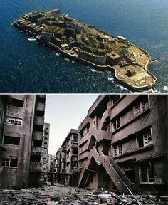 Ghost Island: Hashima Island, Japan - this place fascinates me, what a history