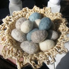 Custom listing for vintagecdm-One Dozen Felted Eggs