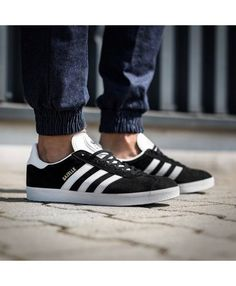 new concept beae5 7c14d Mens Adidas Gazelle Black Gold White Trainer Adidas Gazelle Black, Black  Adidas, Adidas Men