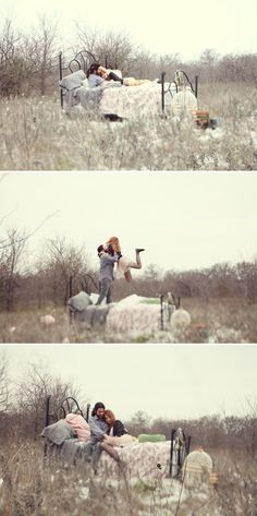 Super-cute engagement shoot on the Knotty Bride, photos by Feather & Twine Photography.